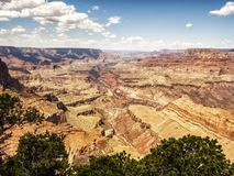 Moran Point-Ansichtpunkt Grand Canyon, Südkante - Arizona, AZ Lizenzfreie Stockfotos