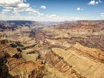 Moran Point färgrik kanjon - Grand Canyon, södra kant - Arizona, AZ Royaltyfri Fotografi