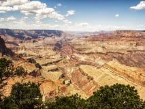 Moran Point siktspunkt Grand Canyon, södra kant - Arizona, AZ Royaltyfria Foton