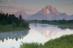 Moran Reflection 2. Mount Moran Stock Image