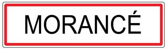 Morance city traffic sign illustration in France Stock Image