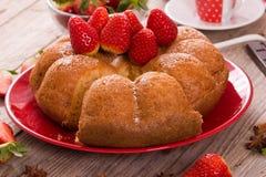 Morango cake Fotos de Stock