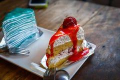 Morango cake Foto de Stock