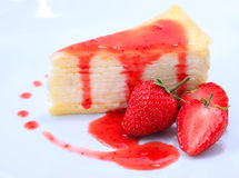 Morango cake imagem de stock royalty free