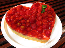 Morango cake Fotografia de Stock Royalty Free