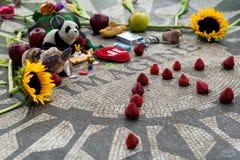 A morango coloca, memorial do lennon de John no Central Park Fotos de Stock Royalty Free