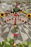 A morango coloca, memorial do lennon de John no Central Park Fotos de Stock