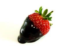 Morango com cobertura do chocolate Foto de Stock