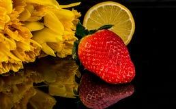 Mordido do gosto doce e ácido da mola Imagem de Stock