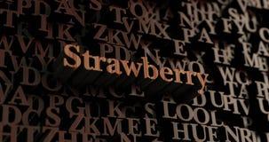 Morango - 3D de madeira rendeu letras/mensagem Foto de Stock Royalty Free