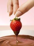 Morango de Choco Imagens de Stock