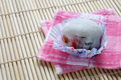 Morango de Daifuku Mochi Foto de Stock