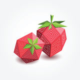 Morango do polígono, ilustração Fotografia de Stock Royalty Free