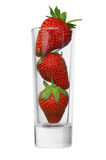 Morango em um vidro Imagem de Stock Royalty Free