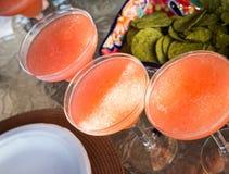 Morango Margarita Cocktails imagens de stock royalty free