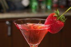 Morango Martini Foto de Stock Royalty Free