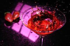 Morango Martini Foto de Stock