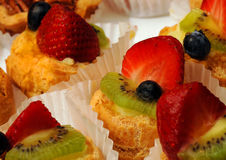 Morango, sobremesa do quivi Fotografia de Stock Royalty Free