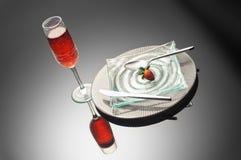 Morango & vinho Imagem de Stock Royalty Free