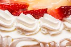 Morango Whip Cream Cake Fotografia de Stock