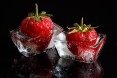 Morangos congeladas Imagens de Stock