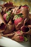Morangos do chocolate Fotos de Stock
