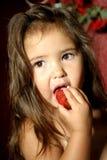 Morangos e Chicotear-Creme Foto de Stock Royalty Free