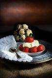 Morangos e creme II Foto de Stock