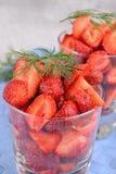 Morangos frescas Fotografia de Stock Royalty Free