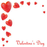 Morangos Heart-shaped fotos de stock royalty free