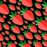Morangos lisas vermelhas em um fundo preto Imagem de Stock