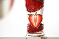 Morangos na bebida Imagem de Stock Royalty Free