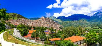 Morano Calabro medieval villages of Italy,Calabria. Impressive Morano Calabro village,panoramic view,Calabria,Italy royalty free stock photo