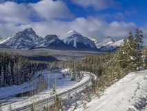 Morant`s Curve, Banff National Park Royalty Free Stock Photos