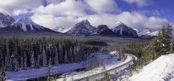 Morant` S-curve, het Nationale Park van Banff Royalty-vrije Stock Afbeeldingen
