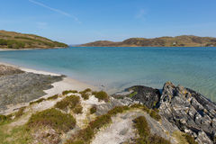 Morar coast Scotland UK beautiful coastal Scottish tourist destination located south of Mallaig. In spring Stock Image
