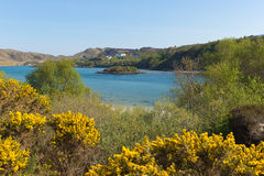 Morar coast Scotland UK beautiful coastal Scottish tourist destination located south of Mallaig. In spring Stock Photos