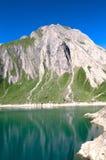 Morasco jezioro, formazza jezioro Obrazy Royalty Free
