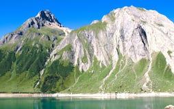 Morasco jezioro, formazza jezioro Fotografia Stock