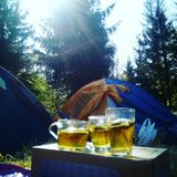 Camp. Morava camp breakfast Stock Photos