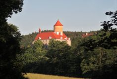 Moravian castle Veveri. This castle is located near Brno in Czech republic Royalty Free Stock Image