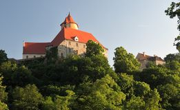 Moravian castle Veveri Royalty Free Stock Photos
