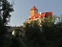 Moravian castle Veveri. This castle is located near Brno in Czech republic Stock Image