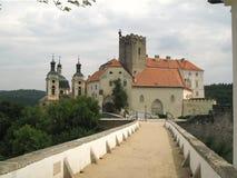 Moravian castle Vranov nad Dyji Stock Photos