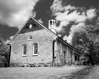 Moravian Church. A Moravian church built in 1788 is one of the few buildings still standing from the Bethabara settlement in North Carolina Royalty Free Stock Photography