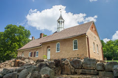 Moravian Church. A Moravian church built in 1788 stands among the ruins of the Bethabara settlement Royalty Free Stock Photos
