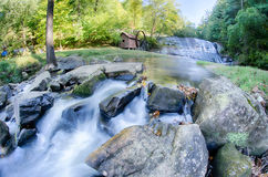 Moravian falls park in north carolin a mountains Royalty Free Stock Photo