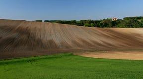 Moravian Fields XIV. Spring in the fields near Brno in Moravia Czech Republic Stock Image
