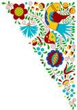 Moravian folk bird ornament Royalty Free Stock Image