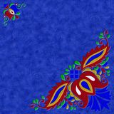 Moravian folk ornament relief painting on generated marble textu Stock Photography